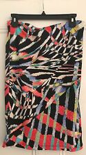 Authentic Just Cavalli made in Italy wild multicolored print skirt in a size 42
