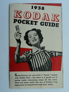 1938 Kodak Pocket Guide. Three page folded cardboard guide in good condition.
