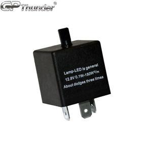 Adjustable 60-180min 3 Pin CF13 EP34 Car Flasher Relay Fix LED Light Hyper Blink