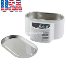 600ml Ultrasonic Cleaner for Jewelry Glasses Circuit Board Watch CD Lens【USA】