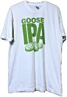 America Apparel Goose Island Beer IPA White T Shirt Size 2XL