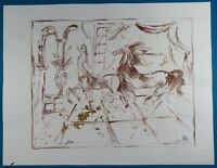"""Marta Wiley """"Centaurs"""" Original Mixed Media Ink Sketch on Paper Signed 2017"""