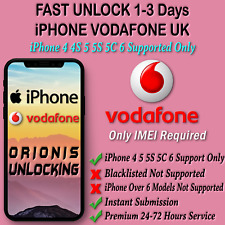 UNLOCK CODE SERVICE FOR iPhone 6 5S 5C 5 4S 4 3GS Vodafone UK Fast Unlocking