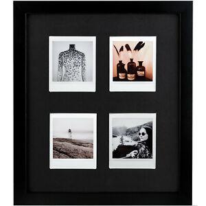 Bilderrahmen für 4 Sofortbilder (Fuji INSTAX SQUARE + Museumsglas &Passepartout
