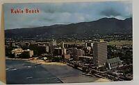 Vintage Postcard Kuhio Beach Waikiki Hawaii St Augustine Foster Towers unposted