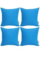 4-Pack 100% Cotton Comfortable Solid Decorative Throw Pillow Case Square Cushion