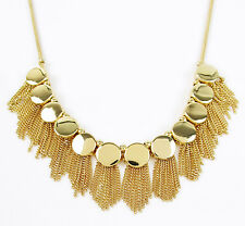 Vince Camuto Gold Tone TRIBAL CORE Frontal Fringe Necklace NEW