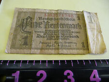1 One Rentenmark 1932, Germany GERMAN MONEY BILL NOTE