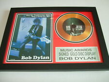 BOB DYLAN   SIGNED  GOLD CD  DISC   7