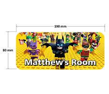 Lego Batman Door Plaque 2 - Personalised Childrens Bedroom Sign Girls Boys
