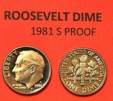 1981 S Roosevelt Dime GEM DCAM PROOF from PROOF Set