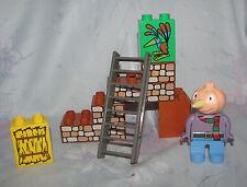 Lego Duplo Bob the Builder Set 3286 Spud and Bird - Complete - Stone Wall Bricks