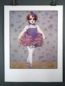 "Ramon Santiago ""Little Dancer"" Ballerina Fine Art Print"