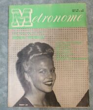 Vintage Metronome Music Magazine Aug 1946 Peggy Lee Jazz Big Band