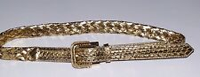 $850.00 BURBERRY SNAKESKIN  GOLD LEATHER BELT SIZE 36/90 MADE IN ITALY