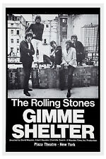 British Rock: The Rolling Stones Gimme Shelter Plaza Theatre NY Poster 1970