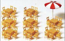 8 Table 48 Stools 1 Parasol Preiser 17201 HO Gauge (16 5 Mm) Accessorie