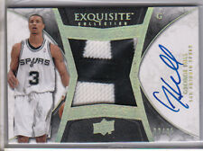 2008-09 UD Exquisite GEORGE HILL Rookie RC 2 Color Auto Patch Logos #2/25 SSP