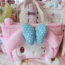Kawaii Bowknot My Melody Kitty Handbag Plush Cute Bag Cos Gift