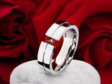 Echte Edelmetall-Ringe ohne Steine im Band-Stil aus Edelstahl für Damen
