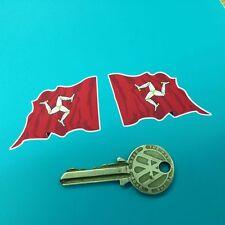 ISLE OF MAN WAVY FLAG STYLE HANDED stickers TT Manx GP