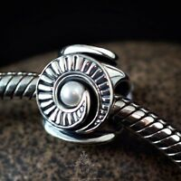 Genuine SOLID 925 Sterling Silver charm bead celtic shell fits bracelets AUM NEW