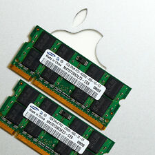 RAM 2x 1GB Apple Mac MacBook/Pro/Mini DDR2 667MHz PC2-5300 SODIMM 200PIN 2GB