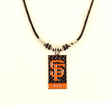 San Francisco Giants MLB Diamond Plate Style Necklace - FREE U.S. Shipping !