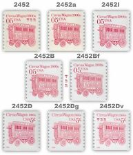 2452 2452a 2452B 2452D 2452Dg + Circus Wagon 5c Set 8 Transportation MNH Buy Now