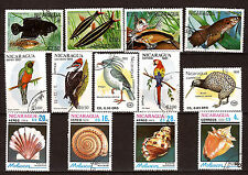 NICARAGUA  Coquillages,oiseaux,poissons  149B