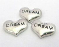 10pcs Dream heart Floating charms For Glass living memory Locket FC0102