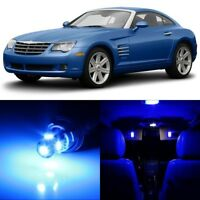 8 x Blue Interior LED Lights Package For 2004 - 2008 Chrysler Crossfire +TOOL