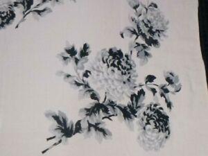 "Vtg Pale Pink Rayon? Tablecloth W/ Black Roses 44x50"""