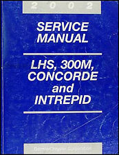 2002 LHS 300M Concorde Interepid Service Manual Chrysler Dodge Repair Shop OEM