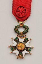 Ordre de la Légion d'Honneur, officier en or, III° République, 1/2 taille, 30x45