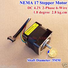 NEMA 17 Hybrid Stepper Motor shaft for 5mm pulley RepRap CNC Prusa 3D printer