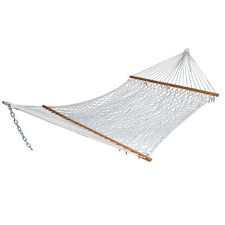 double rope hammock stand patio bed swing cotton camping garden outdoor 2 person cotton hammocks   ebay  rh   ebay