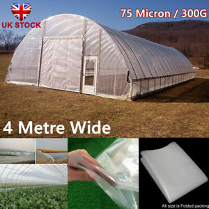Clear Film Polytunnel Greenhouse Plastic Sheet Cover Foil Horticultural/Garden