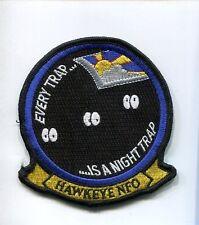 GRUMMAN E-2 E-2C HAWKEYE EVERY NIGHT TRAP US NAVY VAW- Squadron Jacket Patch
