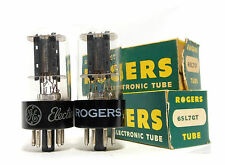 PAIR 6SL7GT RCA USA Black Plates Bottom D Getter NOS Tubes Short Base Cary Rare