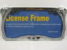 KING COBRA LICENSE PLATE FRAME CHROME VIPER SNAKE L444