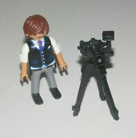 Playmobil Figurine Personnage Homme Photographe + Appareil Photo sur Pied NEW