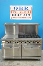 "NEW ATOSA 60"" GAS COMBO RANGE WITH 6 BURNERS AND 24"" GRIDDLE ON LEFT SIDE"