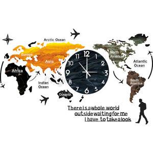 Clock World Atlas Theme Wall Clock