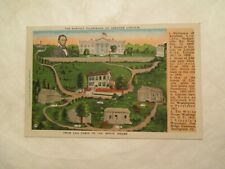 Postcard From Log Cabin to White House Pilgrimage Abraham Lincoln