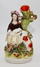 STAFFORDSHIRE GIRL AND HER DOGS FIGURINE