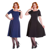 Hell Bunny Bianca Dress Vintage Retro Rockabilly 40's 50's Cocktail Dinner Party