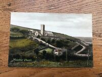 old postcard - manorbier church ( f. frith and co )