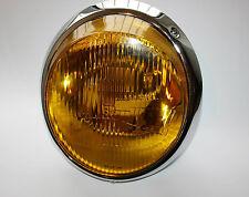 PORSCHE 912 911 964 NEW H4 HEADLIGHT YELLOW BOSCH LENSE 91163111300 NEW