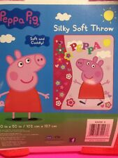 Peppa Pig Floral Pink Silky Soft Throw Blanket 40 x 50